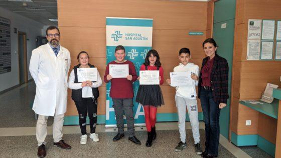 El concurso de dibujo escolar del hospital San Agustín ya tiene a sus ganadores