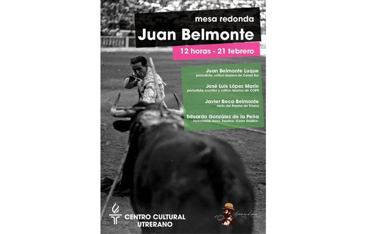 Mesa redonda sobre el torero Juan Belmonte en el «Casino»