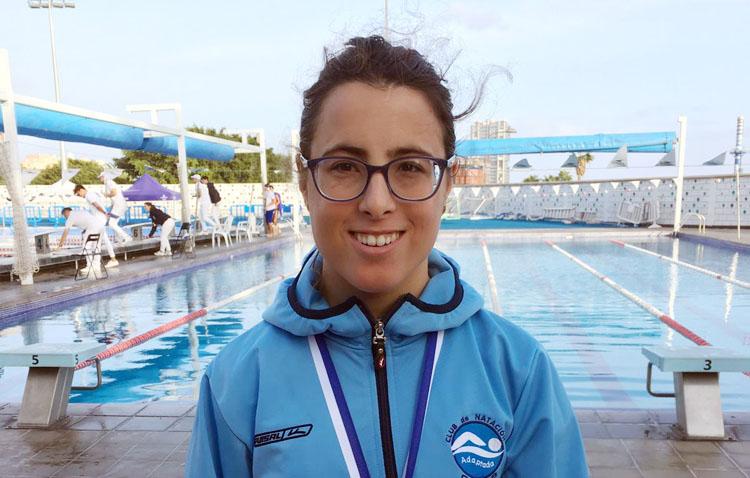 La nadadora utrerana Mercedes Rodríguez, medalla de plata en el torneo paralímpico de Santa Cruz de Tenerife