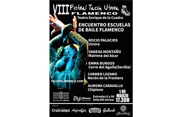 El «Tacón Flamenco» llega a su fin este domingo en Utrera con un encuentro de escuelas flamencas de baile