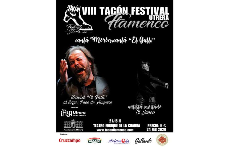 El «Tacón Flamenco» comienza este lunes con el espectáculo «Canta Morón, canta 'El Galli'»