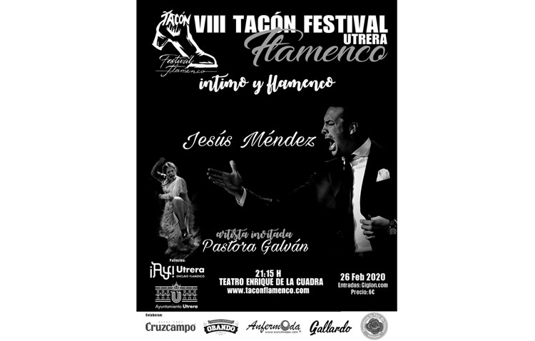 La tercera cita del «Tacón Flamenco» llega este miércoles al teatro de Utrera con Jesús Méndez