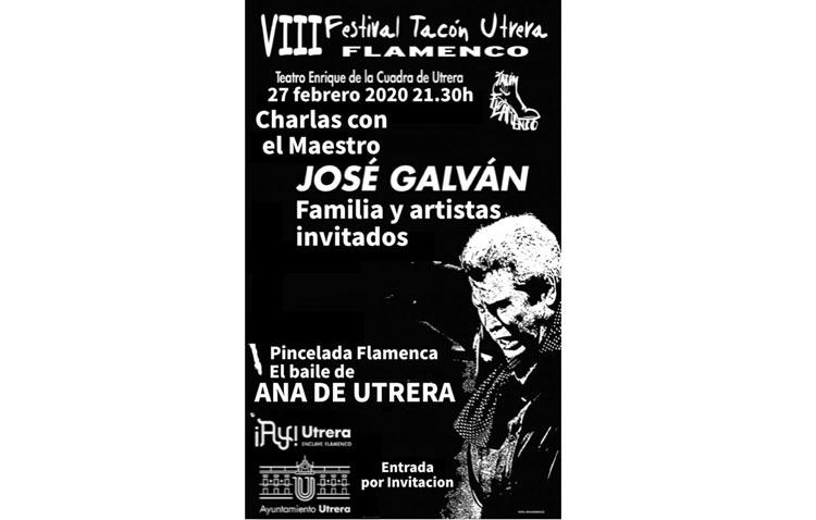 Una «Charla con el maestro José Galván» marca la agenda de este jueves en el «Tacón Flamenco»
