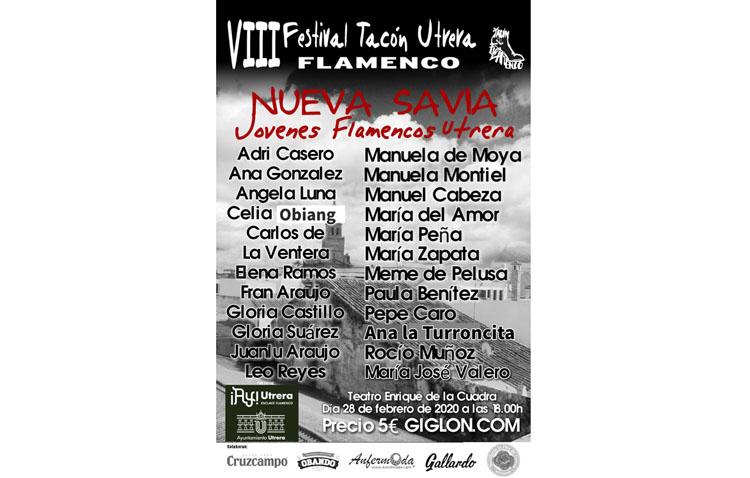 Los jóvenes artistas de Utrera presentan su arte flamenco en el teatro con motivo del «Tacón Flamenco»