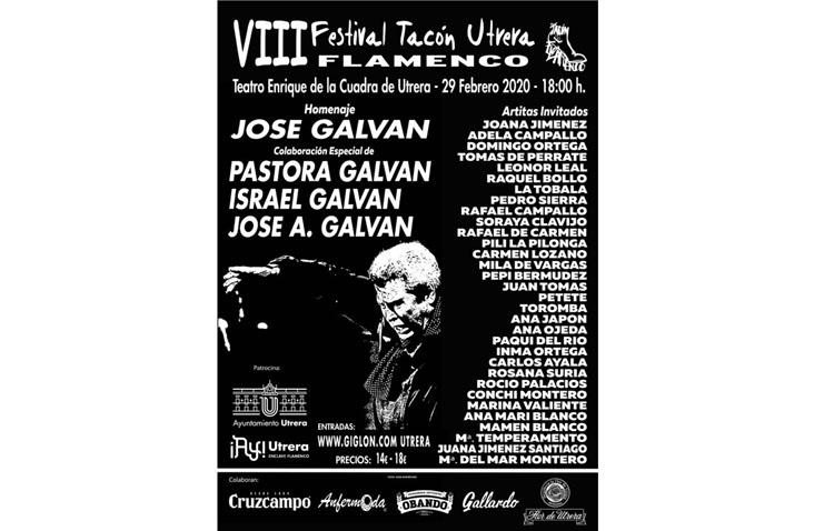 El «Tacón Flamenco» rinde homenaje al bailaor José Galván con más de una treintena de artistas en el teatro de Utrera