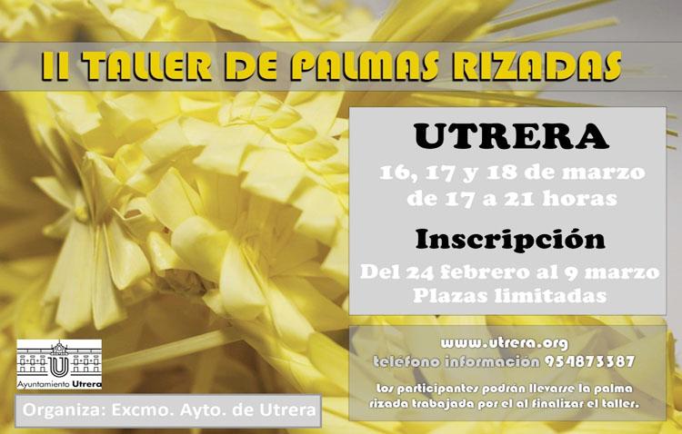 El taller de palmas rizadas regresa a Utrera para enseñar este arte ante la llegada de la Semana Santa