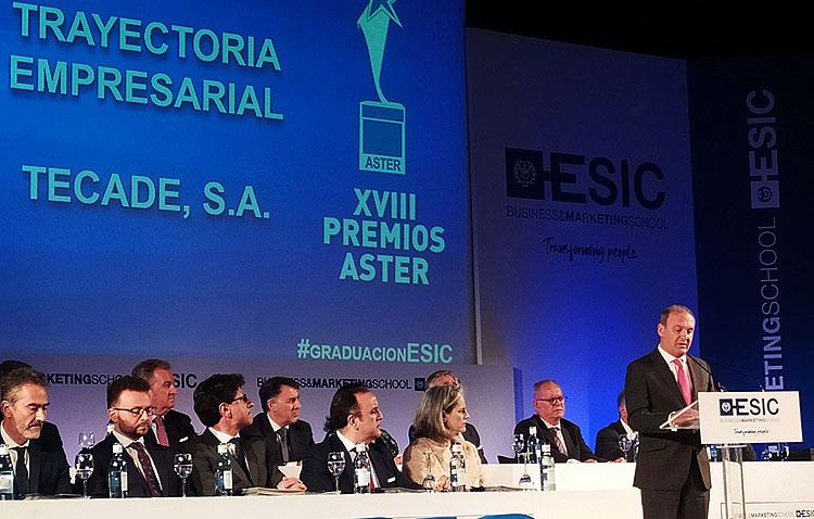 Tecade recibe un premio a su trayectoria empresarial