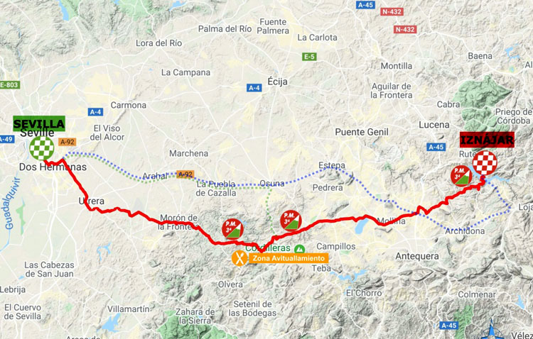 La Vuelta ciclista a Andalucía pasará junto a Utrera el 20 de febrero