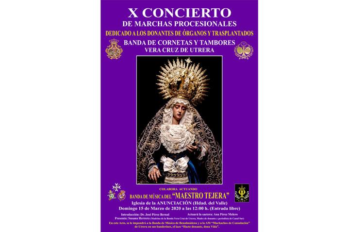 La Vera-Cruz de Utrera lleva su música a la sevillana iglesia de la Anunciación para fomentar las donaciones de órganos