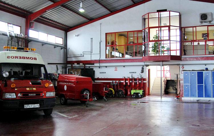 El cuerpo de bomberos de Utrera, uno de los más antiguos de Andalucía