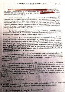 JxU ha mostrado el escrito presentado por los vecinos afectados