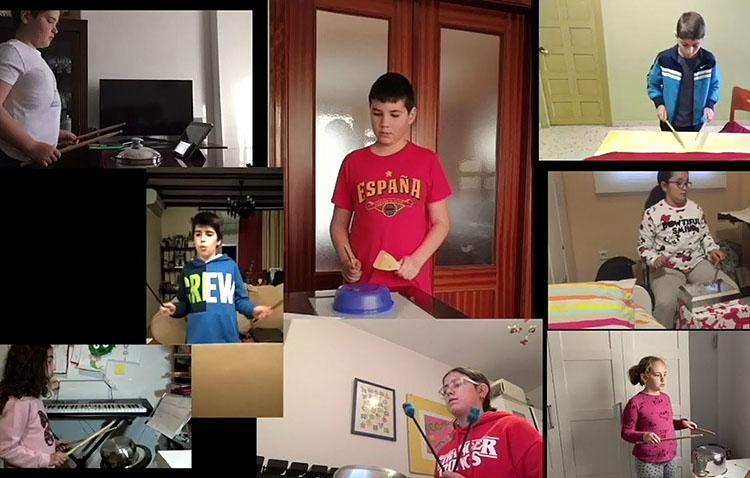 Los alumnos del conservatorio de Utrera se quedan en casa al ritmo de su «percusión casera» (VÍDEO)