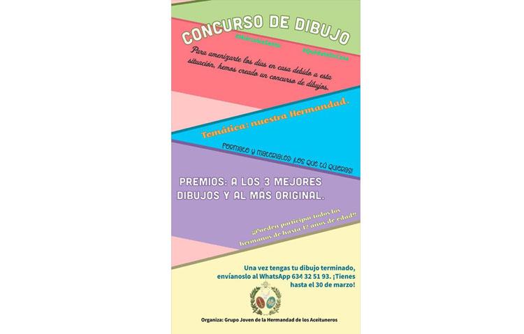 La hermandad de los Aceituneros organiza un concurso de dibujos