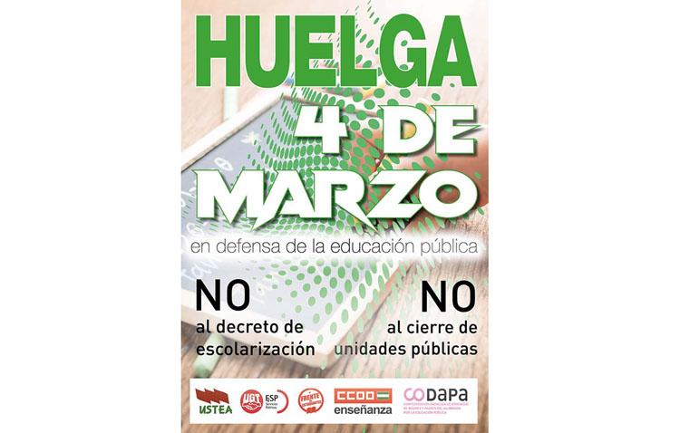 El PSOE de Utrera muestra su apoyo a las asociaciones de padres «por la educación pública» en la huelga del 4 de marzo