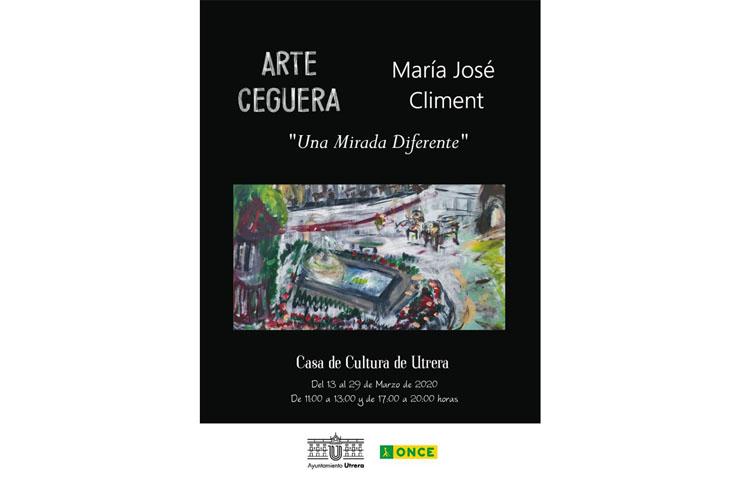 Una exposición pictórica con la «Mirada diferente» de la invidente utrerana María José Climent