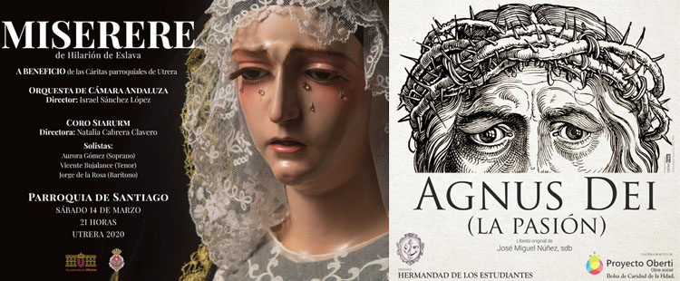 El «Misere» en Santiago y el teatro «Agnus Dei» de la hermandad de los Estudiantes, suspendidos por el coronavirus