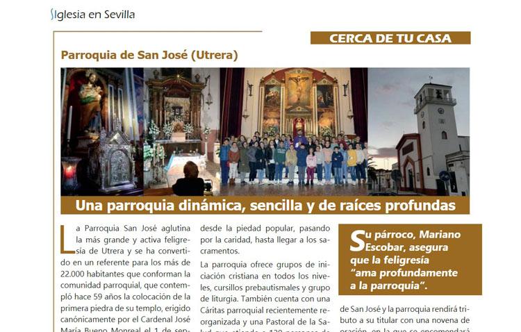 La parroquia de San José, protagonista en la revista semanal de la Archidiócesis de Sevilla