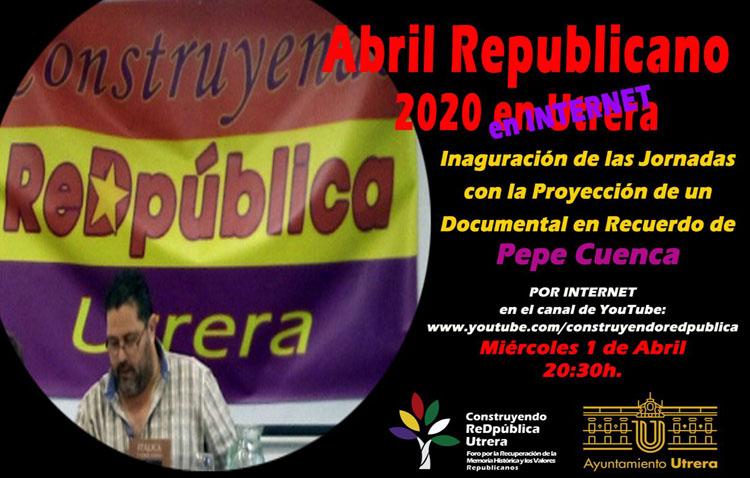 El «Abril republicano» comienza en Utrera con un documental en memoria de Pepe Cuenca
