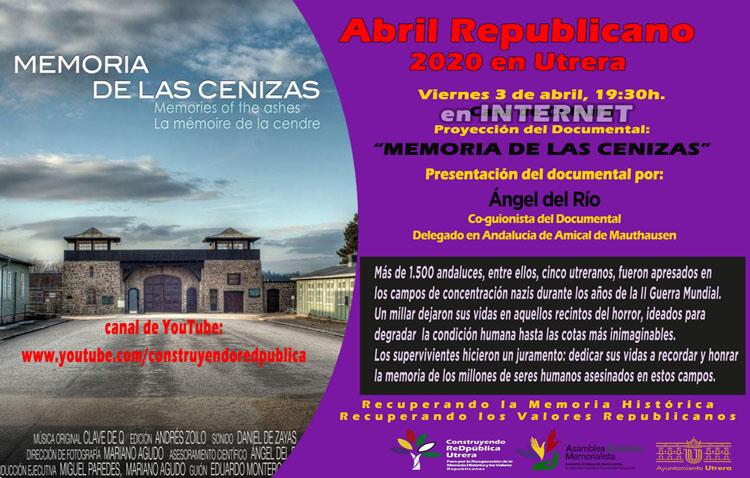 El foro utrerano «Construyendo ReDpública» emite este viernes un documental sobre los andaluces en campos de concentración nazis