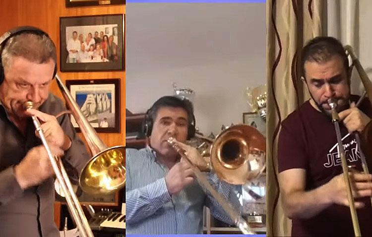 El utrerano José Antonio Ramírez, en una original propuesta musical de ocho trombonistas de toda Andalucía (VÍDEO)