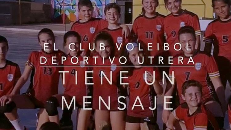 El Club Voleibol Utrera se suma a la campaña «Quédate en casa» (VÍDEO)