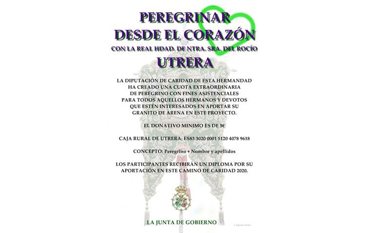 La hermandad del Rocío establece una cuota simbólica solidaria