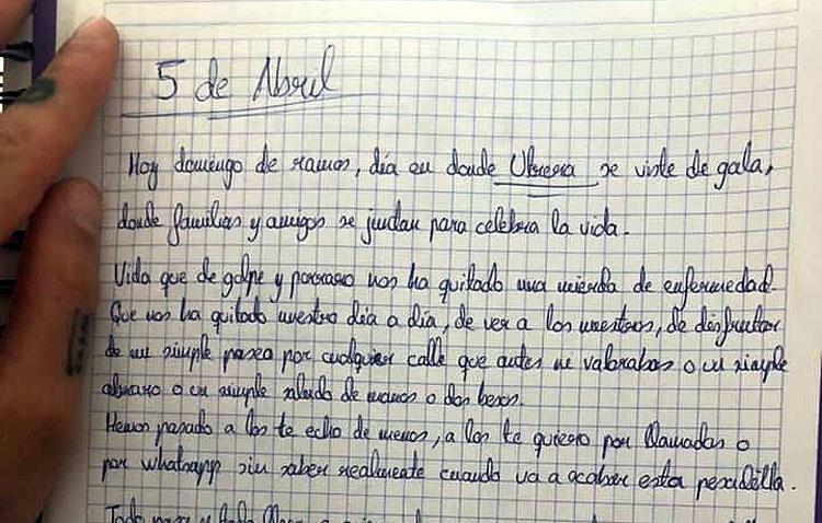 La emotiva carta del futbolista utrerano Luis Pérez por el Covid-19