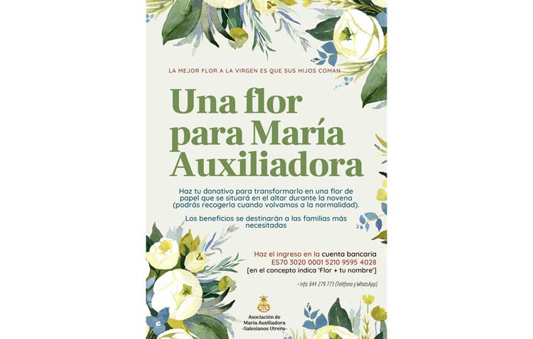 La flor más solidaria a los pies de María Auxiliadora en Utrera