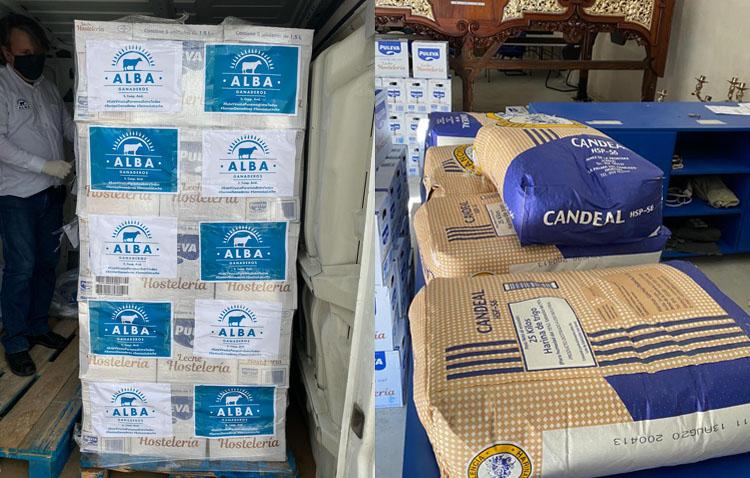 Leche y harina para los más necesitados de Utrera