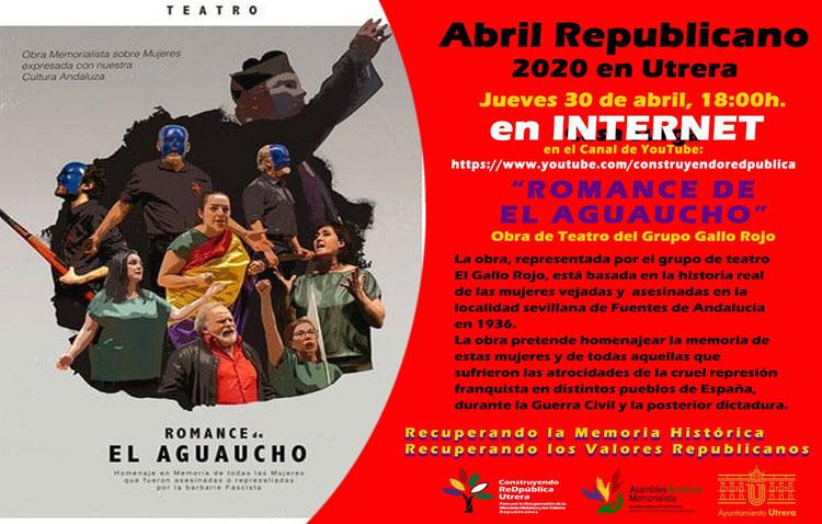 Una obra de teatro para poner el broche al «Abril republicano» en Utrera