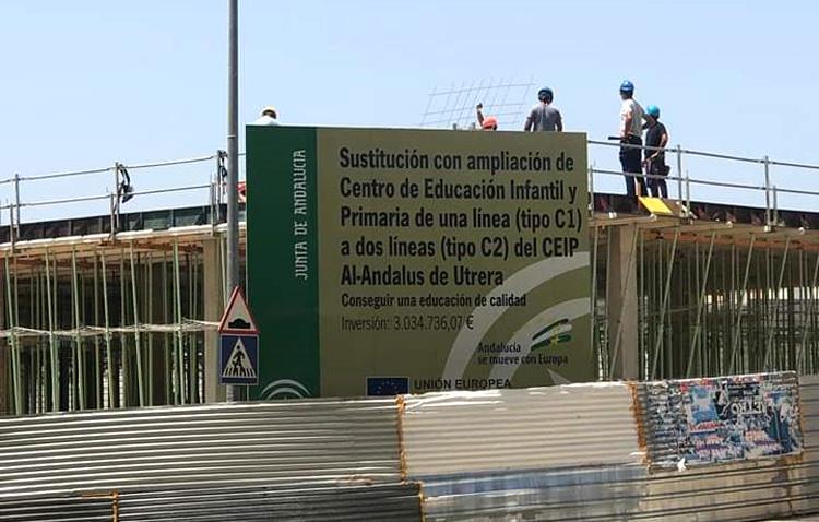 La bonificación del ICIO a la empresa que construye el colegio de La Mulata enciende las críticas entre JxU y el PSOE