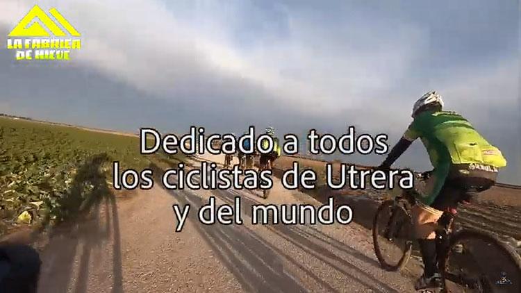 Pedaleando mensajes de esperanza desde la asociación ciclista utrerana «Fábrica de Nieve» (VÍDEO)