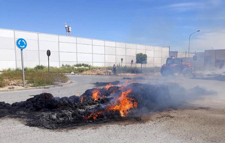Arde la carga de su remolque mientras circulaba con el vehículo en plena calle (IMÁGENES)