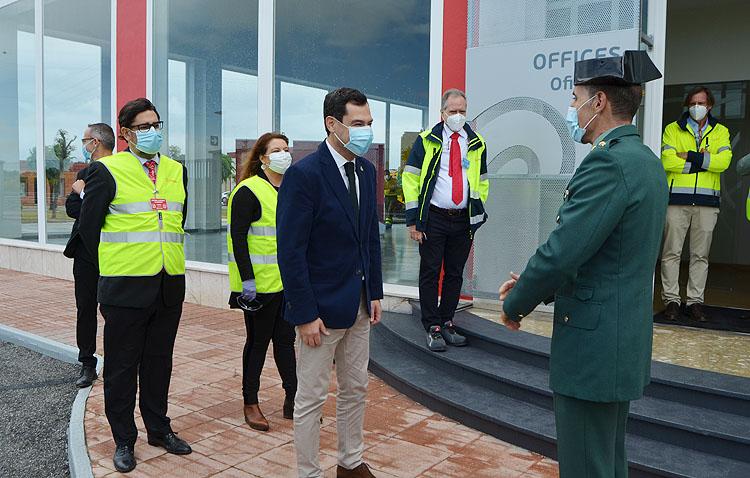 El presidente de la Junta presenta en Utrera la nueva flota de vehículos contra incendios forestales del Plan Infoca (VÍDEO)
