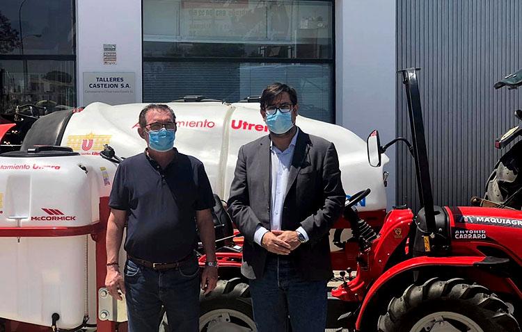 El Ayuntamiento de Utrera incorpora dos atomizadores para seguir desinfectando las calles y mejorar la limpieza