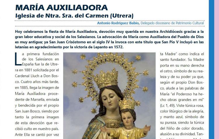 María Auxiliadora de Utrera, protagonista de la revista de la Archidiócesis de Sevilla
