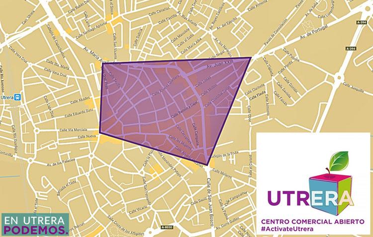 Podemos propone crear un centro comercial abierto en Utrera para reactivar la economía local
