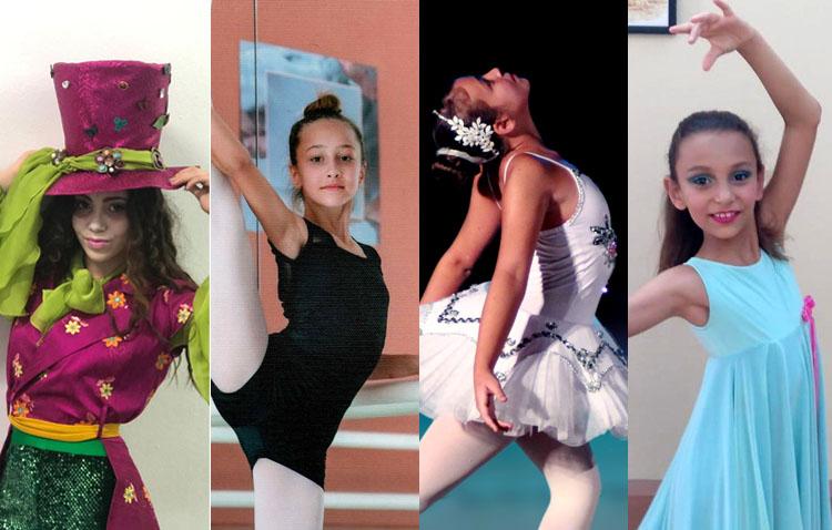Cuatro jóvenes utreranas, ganadoras de un concurso virtual de danza a nivel nacional