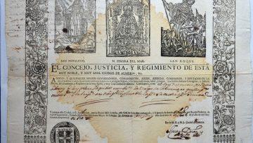 La sorprendente historia de la patrona de Utrera en los documentos históricos oficiales de Almería