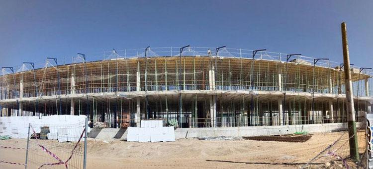 Continúan a buen ritmo las obras del colegio de La Mulata, que podría estar operativo para el curso 2021-2022