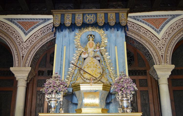La Virgen de Consolación regresará a su camarín con una misa en la que se mostrará por primera vez la restauración del retablo