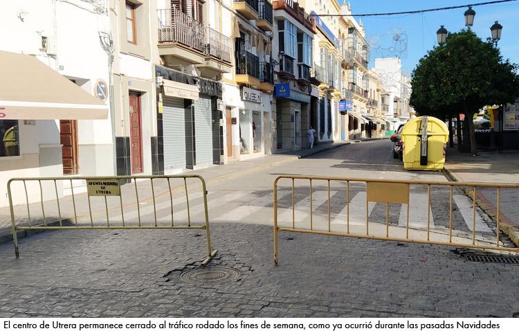 Censur muestra su apoyo a los comercios del centro de Utrera contra el cierre al tráfico los fines de semana