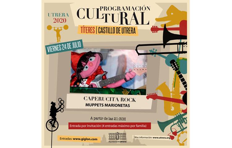 Noche de títeres en el castillo de Utrera con «Caperucita rock»