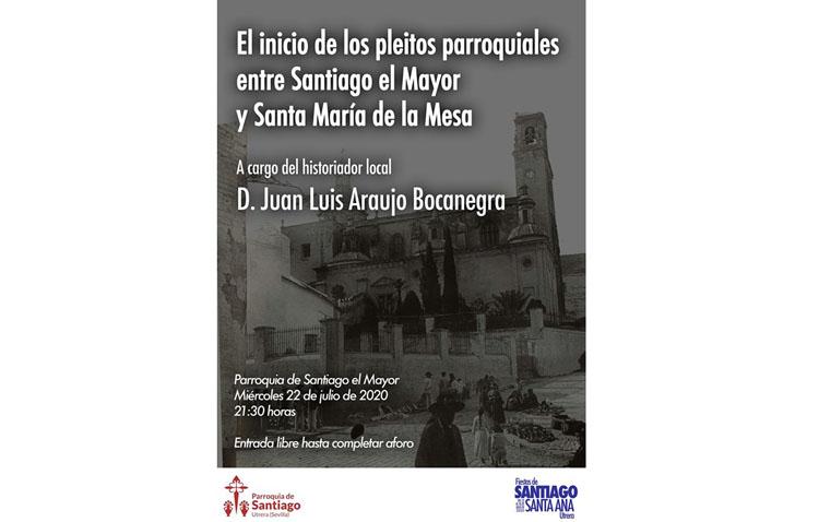 Una conferencia desvelará el inicio de los pleitos entre las parroquias de Santa María y Santiago