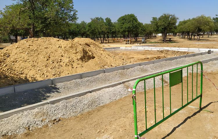 En marcha las obras para ampliar los huertos sociales del parque del V Centenario con 48 nuevas parcelas