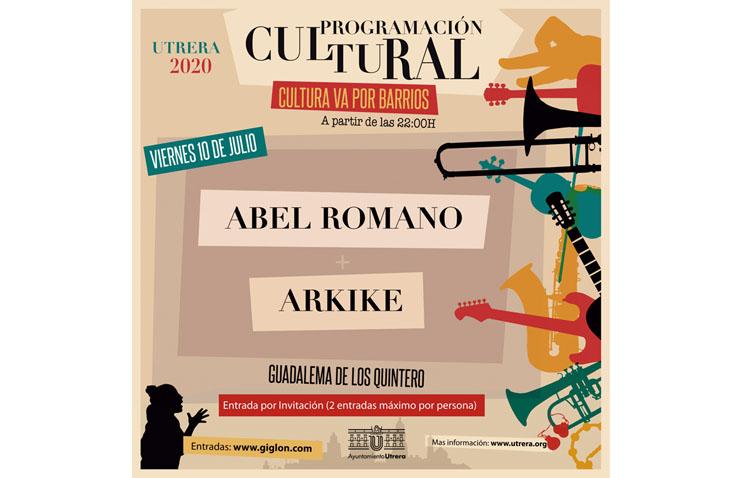 Abel Romano y Arkike, protagonistas de la segunda cita del ciclo «Cultura va por barrios»