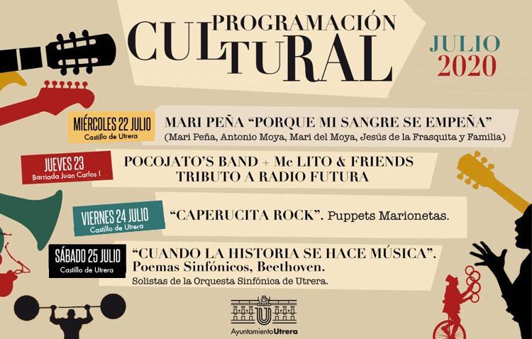 Las noches utreranas se llenan esta semana de música, flamenco y marionetas