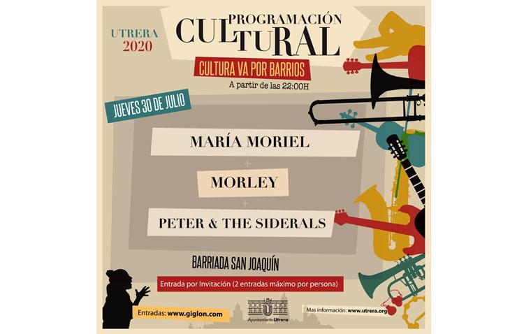 La barriada San Joaquín, escenario de una nueva noche musical con el ciclo «Cultura va por barrios»