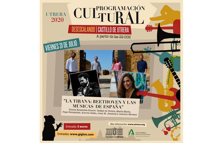Un repaso por la obra de Beethoven y las músicas de España, en el nuevo espectáculo de «Utrera Ensemble Sonoro»