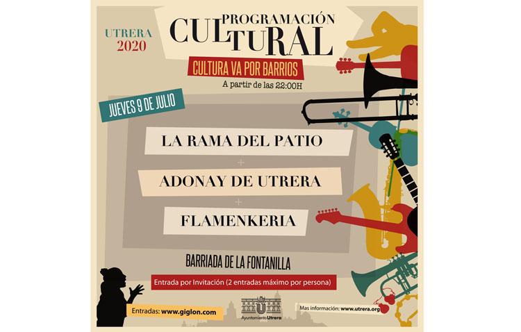 El ciclo «Cultura va por barrios» se estrena este jueves con tres actuaciones en La Fontanilla